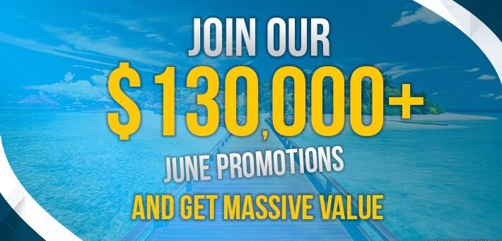 Lebih dari $ 130.000 dalam Promosi VIP-Penggiling Juni!