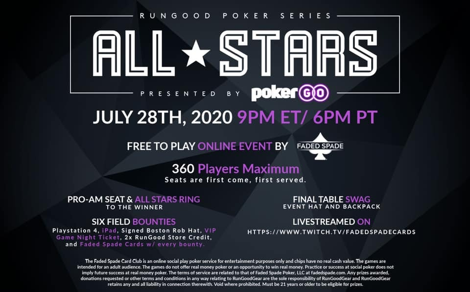 RunGood to Team With Faded Spade untuk 28 Juli Freeroll Online