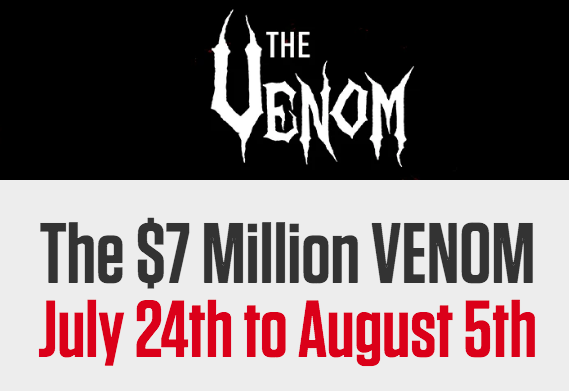 Venom $ 7 Juta Dimulai 24 Juli Di Americas Cardroom