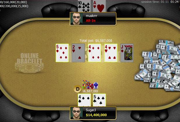 Cuplikan Layar Dari WSOP.com
