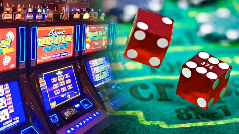 Mesin Video Poker dan Closeup Dadu Dadu