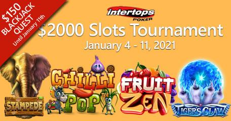 Intertops Poker menawarkan turnamen slot dan Blackjack Quest minggu ini