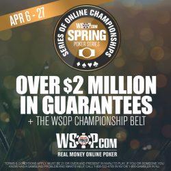 WSOP Memulai Kejuaraan Online Musim Semi di AS
