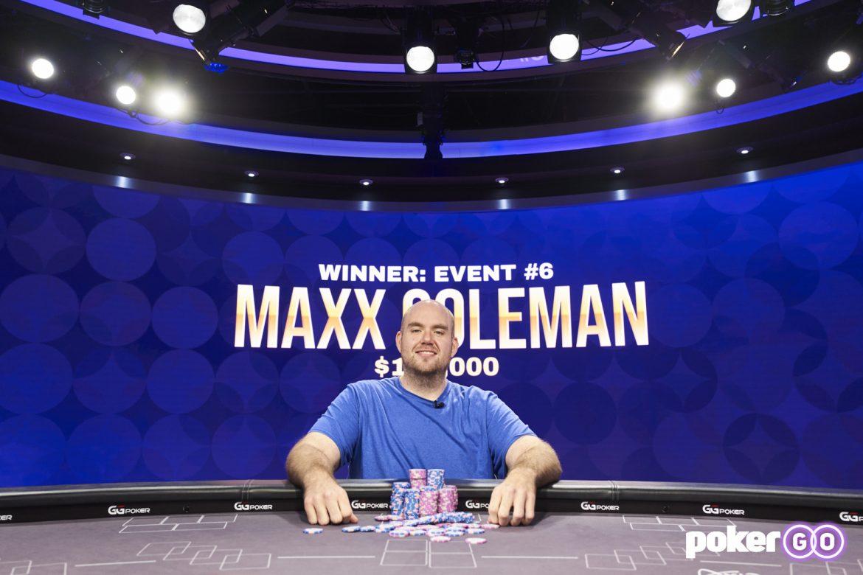 Maxx Coleman Menghadiri Acara Poker Masters 2021 #6 seharga $120K